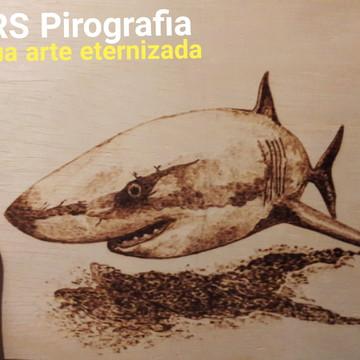 Tubarão Pirografia