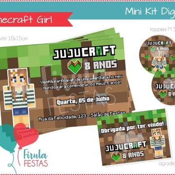 Mini Kit Digital Minecraft Girl