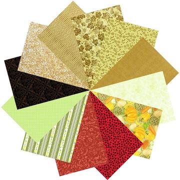 Kit Tecidos Patchwork Marrom Terra Hortalicas #12 25cmx70cm