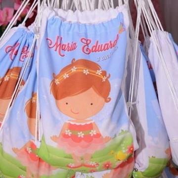 Mochilinha Saco Infantil Personalizado