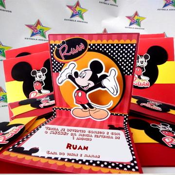 convite 3d Mickey