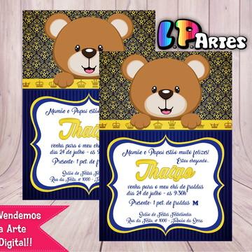 Convite Digital - Ursinho Príncipe