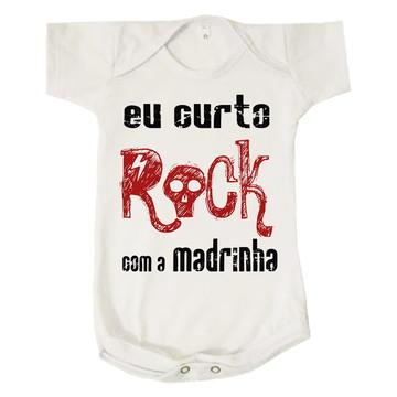 Body Bebê Curto Rock com a Madrinha Dinda