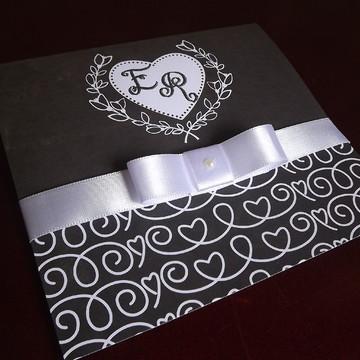 Convite de Casamento chalkboard - Mini