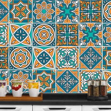 Adesivo de Azulejo Laminado 20x20cm - Marrocos