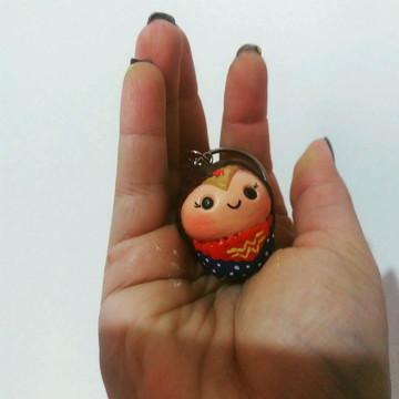 Chaveiro cupcake Mulher Maravilha/ Wonder Woman