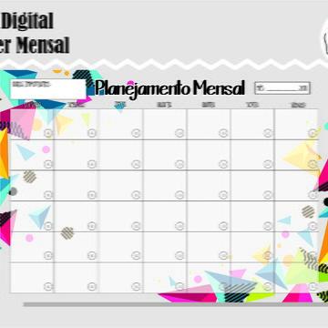 PLANNER MENSAL 25 - ARTE DIGITAL