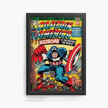 Quadro Decorativo Captain America cod618