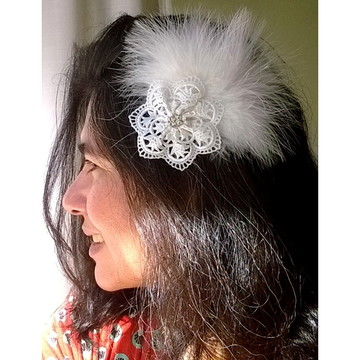 Fascinator noiva BOHO-CHIC