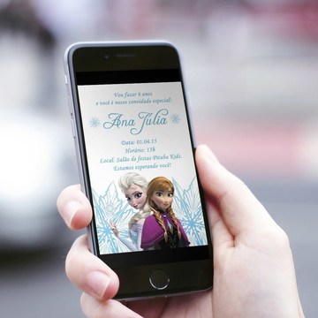 Convite Digital Infantil Frozen!