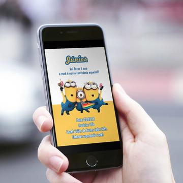 Convite Digital Infantil Minions!