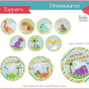 Kit Digital Toppers Dinossauros