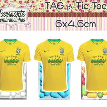 Tag ou Aplique para Tic Tac Copa Futebol