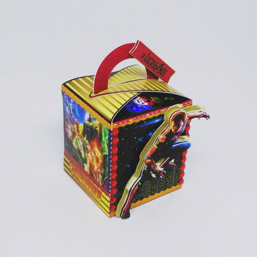 Caixa Quadrada com Alça - Vingadores Guerra Infinita