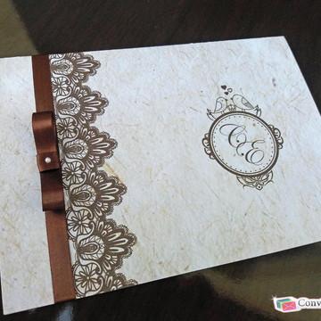 Convite de Casamento Rústico Especial
