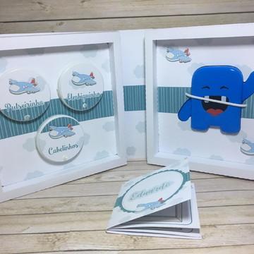 Recordações do bebê DUO + Álbum Dental Avião