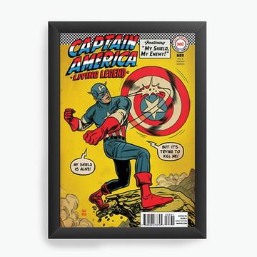 Quadro Decorativo Captain America cod611