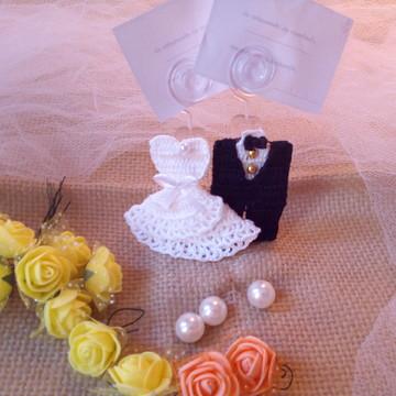 Lembrancinha noivos em crochê miniaturas