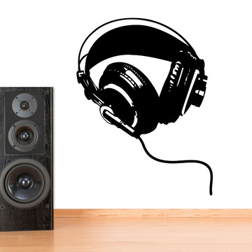 Adesivo de Parede Música Fone de Ouvido 02-M 58x75cm