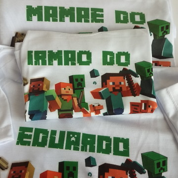 kit Camiseta personalizada Minicraft
