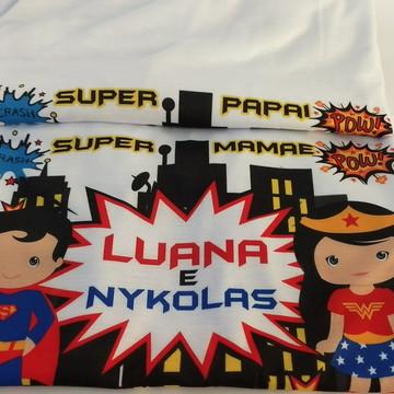 kit Camiseta personalizada super herois