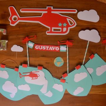 Kit Festa Infantil - Helicóptero!