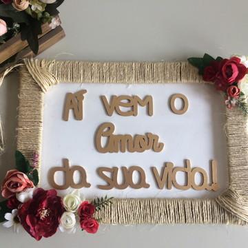 Placa para Daminhas e Pajens Romântica