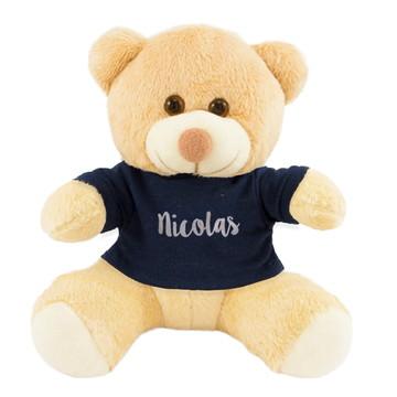 Ursinho c/ Camiseta Personalizada - Decoração Chá de Bebê