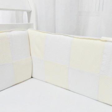 Kit Protetor Mini Berço Patchwork
