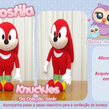 Apostila Knuckles da Coleção Sonic - em Feltro