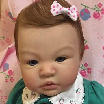 Bebe Reborn Manuela I -Cabelo implantado fio a fio