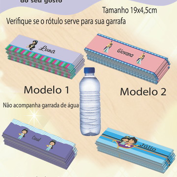 Rótulo Água Mineral-Jasmim
