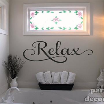 Adesivo para banheiro Relax