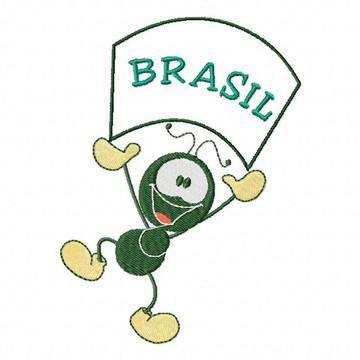 Matriz para Bordado Smilinguido na Copa do Mundo - JEF