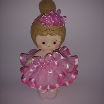 Boneca Baby Bailarina em Feltro
