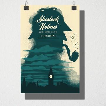 Poster A4 Sherlock Holmes