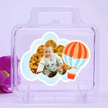 Maletinha de acrílico com foto - Balão