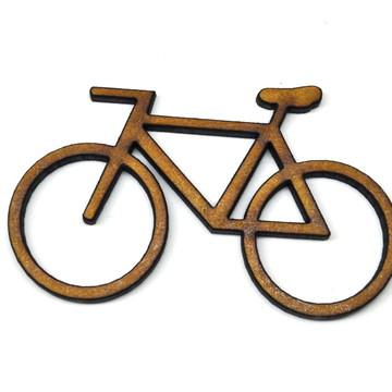 Bicicleta MDF 6mm aplique 6x10cm corte laser