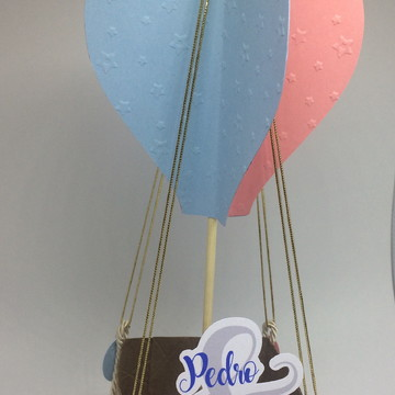 Balão grande para centro de mesa para casal de gêmeos