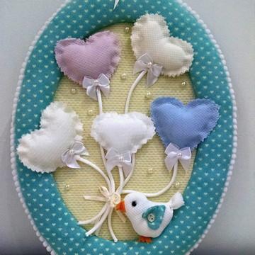 Enfeite de Porta Pássaros Coração