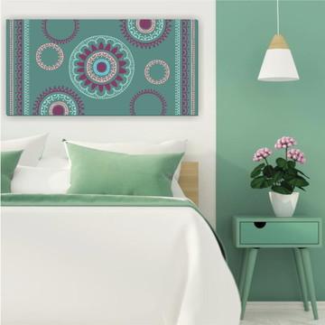 Tela Decorativa Henna Verde 100X50cm