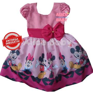 Vestido Minnie Rosa Mod.5 - 6 ANOS