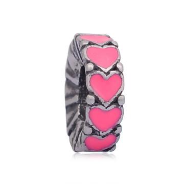 Separador de aço inoxidável CORAÇÃO Pink