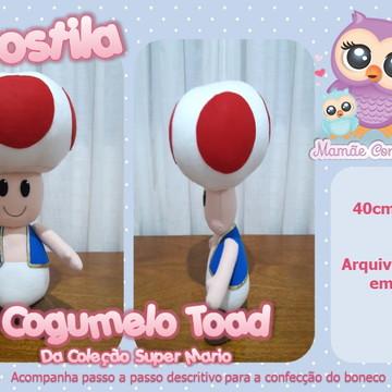 Apostila Cogumelo Toad - Coleção Super Mario em Feltro