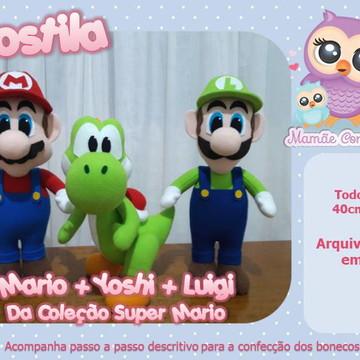 Apostila Mario + Yoshi + Luigi - Coleção Super Mario