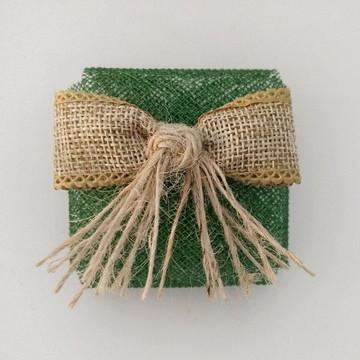 Embalagem de Bem-casado: Verde com juta (rústico)