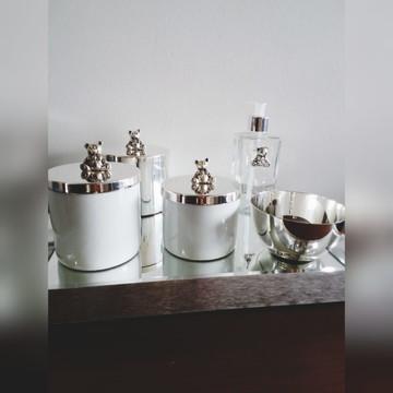 Kit ursinho porcelana e prata