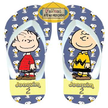 Turma do Snoopy Sandália Lembrancinha Festa Adulto Infantil!