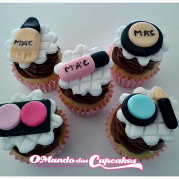 Apliques Cupcakes Maquiagem