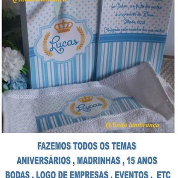 Toalhas Lembrança Maternidade + Sacola De Brinde